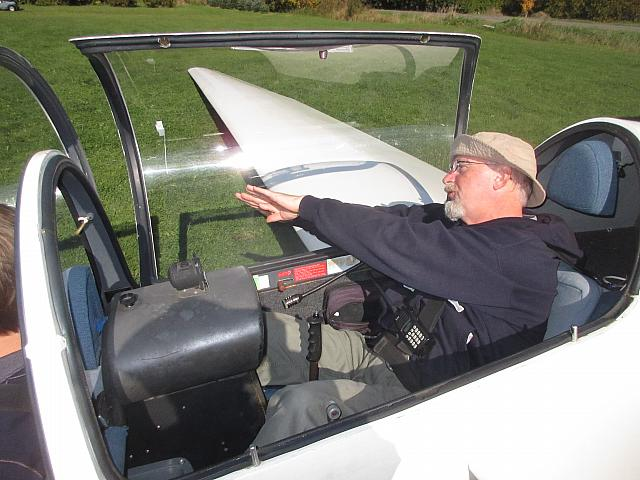 Ailerons Roll the Glider