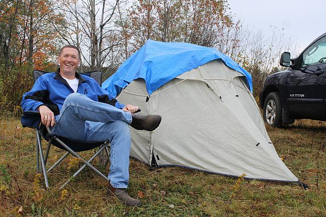 Glider Pilot and His Tent